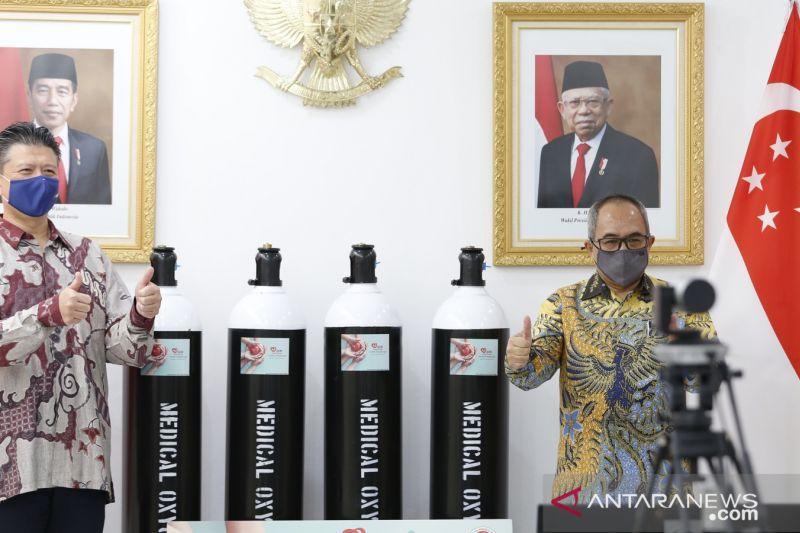 Indonesia terima bantuan 532 tabung oksigen medis