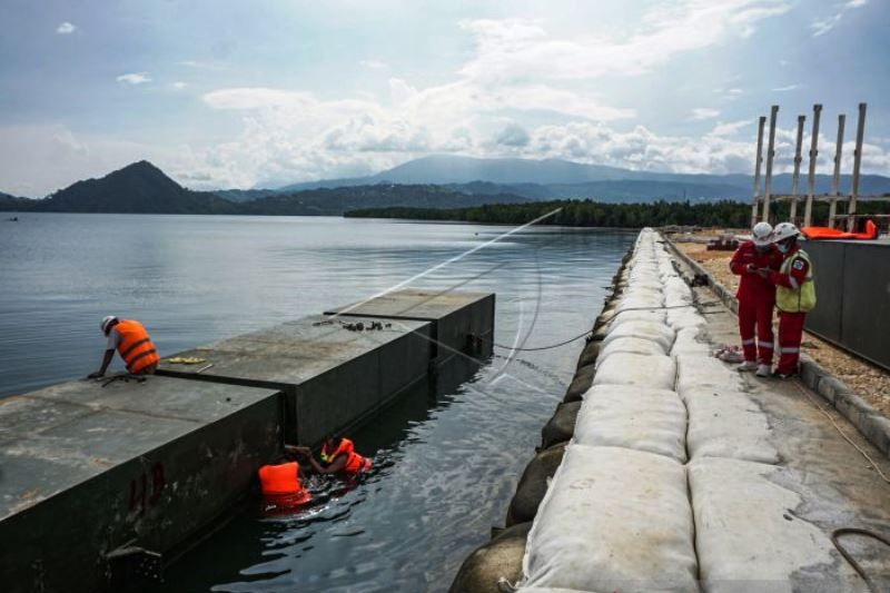 Progres pembangunan arena cabor dayung PON Papua 97 persen