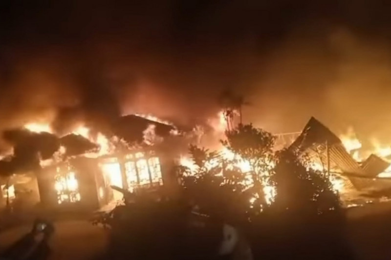 Sembilan rumah hangus terbakar di Bener Meriah
