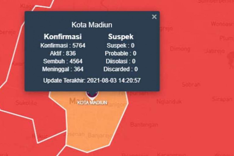 Kota Madiun berstatus risiko sedang penyebaran COVID-19