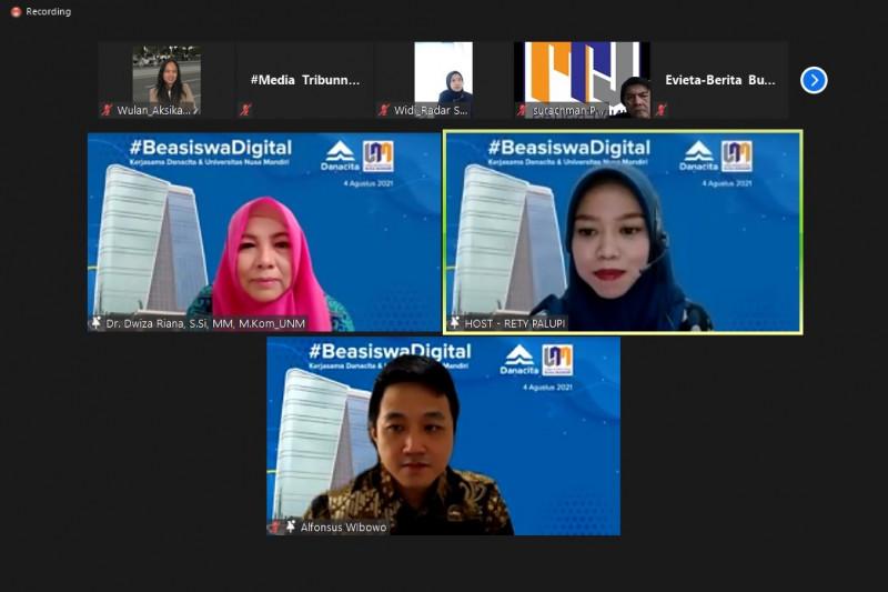 Danacita-Universitas Nusa Mandiri siapkan beasiswa digital mahasiswa