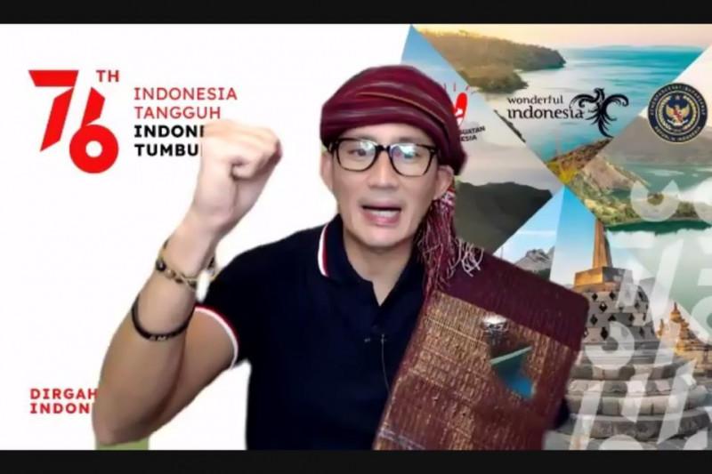 Sandiaga: Serbuan Vaksinasi TNI-pengembangan kriya pulihkan Danau Toba