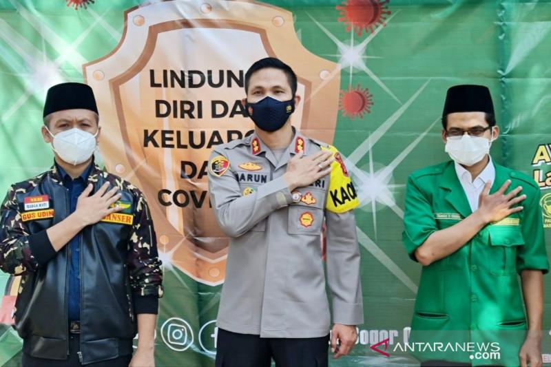 GP Ansor-Polres Bogor gelar vaksinasi sasar santri dan kiai