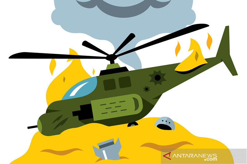 Helikopter dengan 16 orang jatuh di Far East Rusia