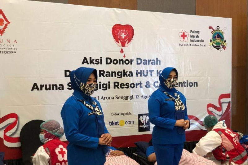 HUT ke-5, Aruna Senggigi Gelar Aksi Donor Darah