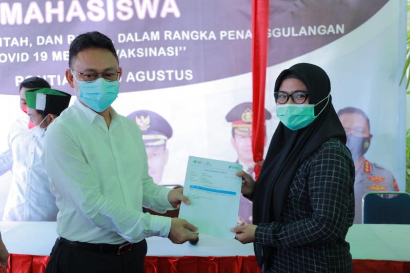 Gagas vaksinasi massal di Pontianak, HMI diberi apresiasi pemerintah