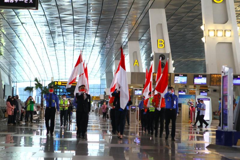 Seluruh bandara AP II peringati HUT Kemerdekaan Ke-76 Indonesia