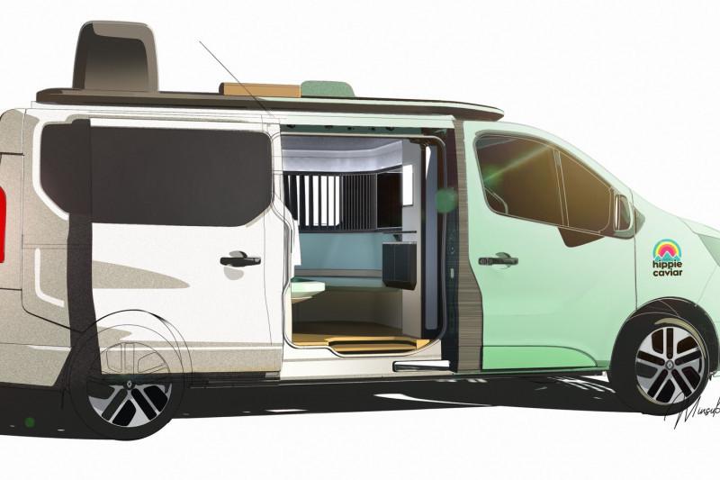 Renault pamerkan kendaraan konsep campervan listrik yang mewah
