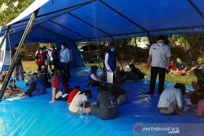 Dinsos DKI dampingi anak-anak korban kebakaran Mampang