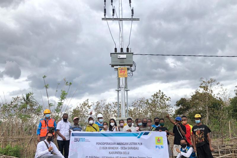 PLN NTT alirkan listrik ke dua dusun di perbatasan RI-Timor Leste