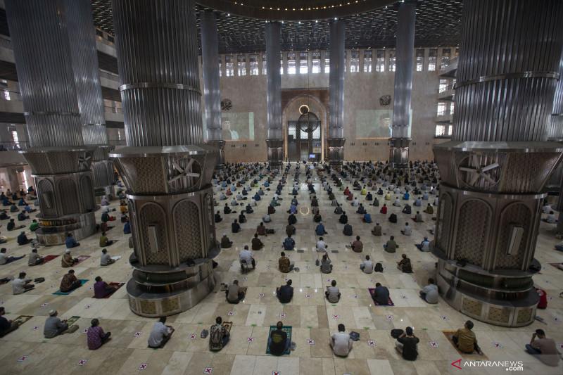 Dibuka lagi, Masjid Istiqlal disambut antusias jamaah shalat Jumat