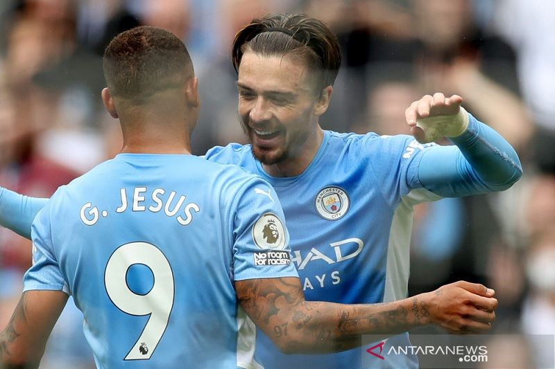 Manchester City berondong gawang Norwich lima gol tanpa balas