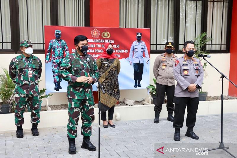 Panglima TNI-Kapolri minta pelacakan-pengetesan di Klaten masif