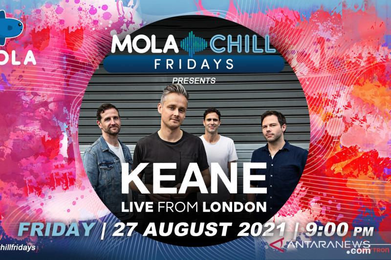 Besok, Keane akan tampil untuk Indonesia di Mola Chill Fridays