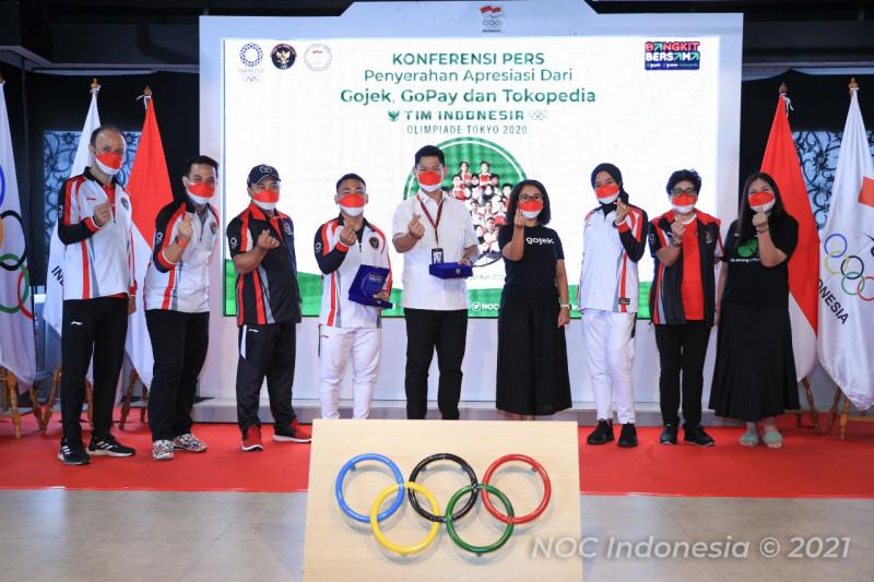 Kontingen Indonesia untuk Olimpiade Tokyo dapat apresiasi dari Gojek