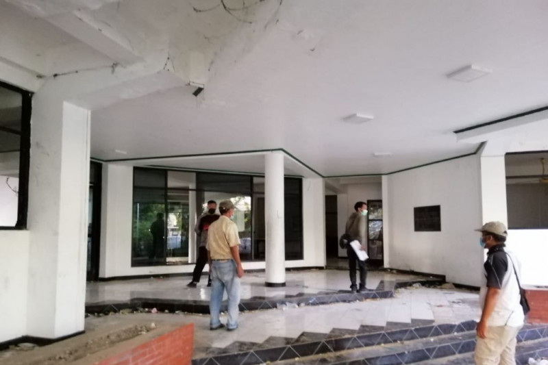 Polisi menyelidiki penjarahan di Wisma Persebaya