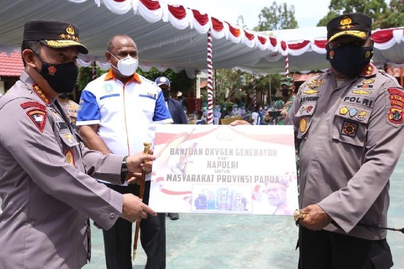 Panglima TNI dan Kapolri tinjau vaksinasi merdeka di Jayapura