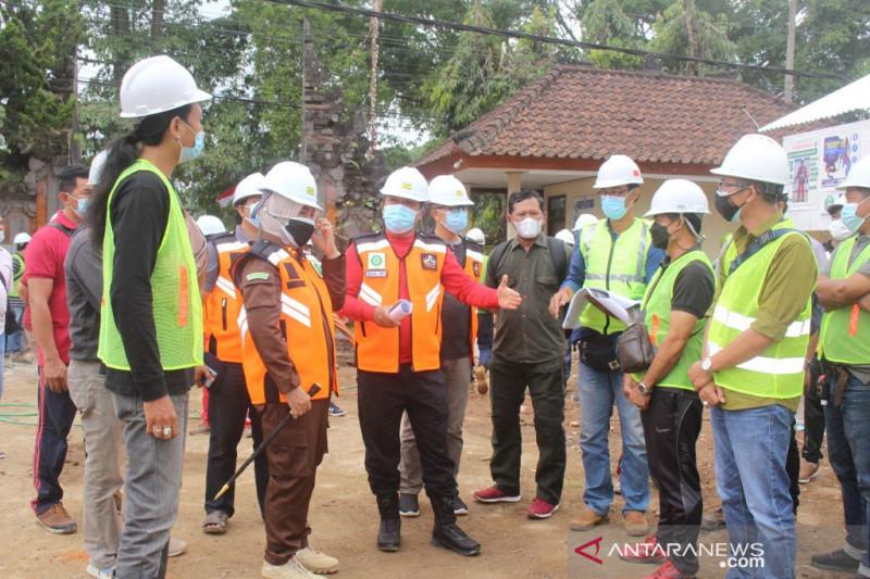 Bupati Bangli tinjau tiga proyek pembangunan strategis