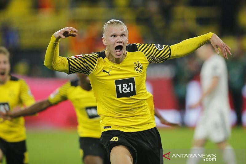 Haaland cetak gol larut antar Dortmund menang dramatis atas Hoffenheim