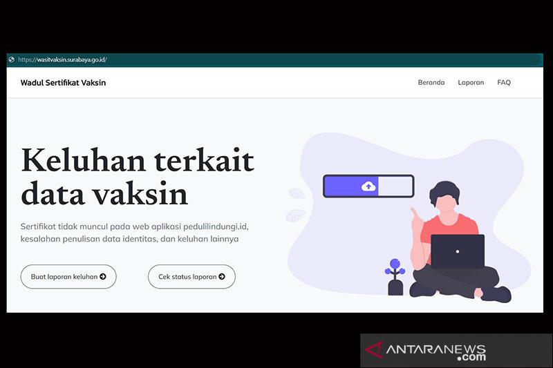 Aplikasi Wasit Vaksin tampung keluhan sertifikat vaksin di Surabaya