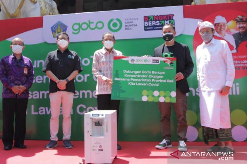 Bali terima bantuan 70 konsentrator oksigen dari GoTo