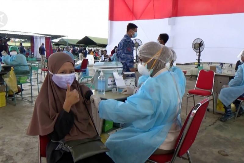 TNI-AU jemput bola serbuan vaksin di Gunungkidul