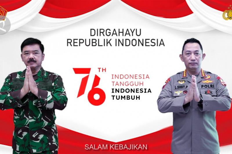 Makna HUT RI di mata Panglima TNI dan Kapolri
