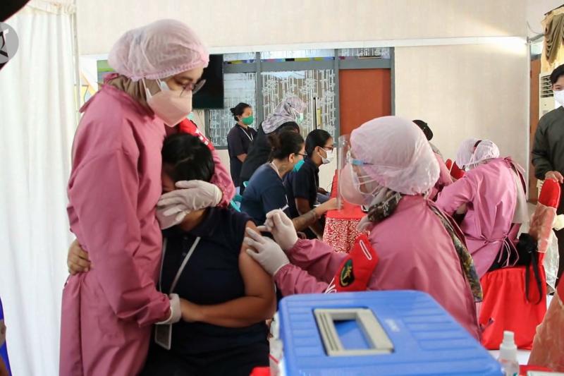 Vaksinasi juga sasar eks napiter dan napi perempuan