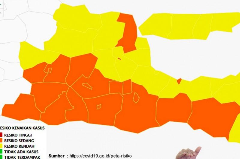 Jawa Timur keluar zona merah pandemi COVID-19