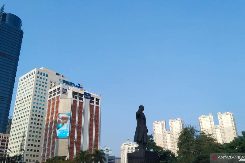 Jakarta cerah berawan dengan tingkat kelembaban 55-85 persen