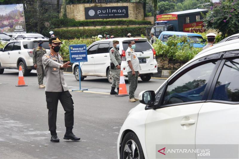 300 personel gabungan kawal ganjil genap Jalur Puncak Bogor besok