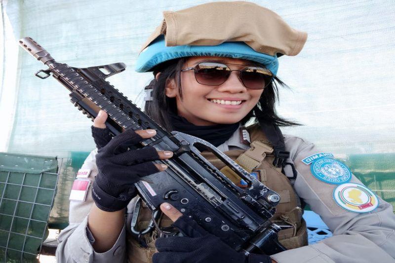 Bripka Astri Teresia, polwan tangguh dalam misi UNAMID di Sudan