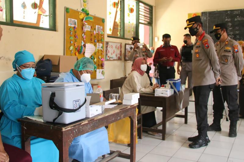 Polres Malang bantu upaya percepatan vaksinasi COVID-19