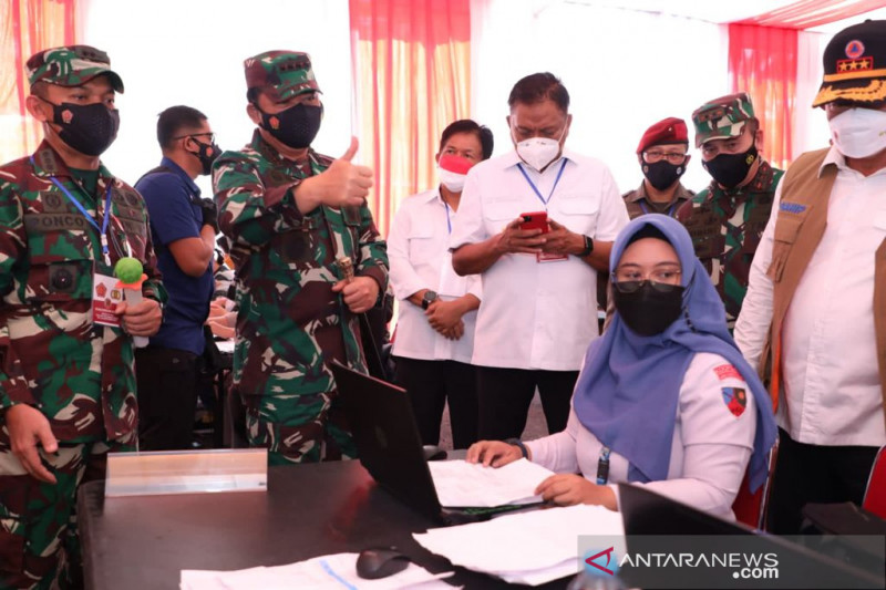 Panglima TNI minta Sulut tingkatkan rasio pelacakan COVID-19