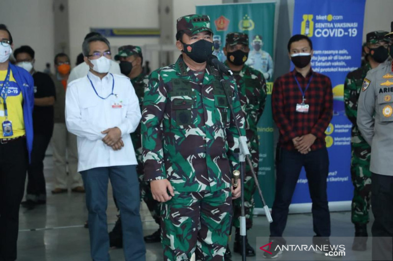 Panglima TNI kembali tinjau langsung vaksinasi di Bantul