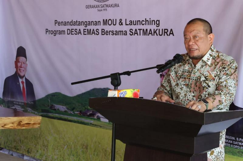 Ketua DPD hadiri peluncuran Program Desa Emas di Lampung