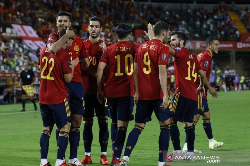 Spanyol kembali ke jalur kemenangan hancurkan Georgia 4-0