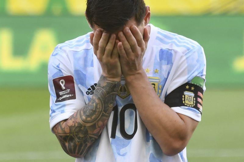 Messi kesal laga Argentina vs Brazil dihentikan gara-gara prokes