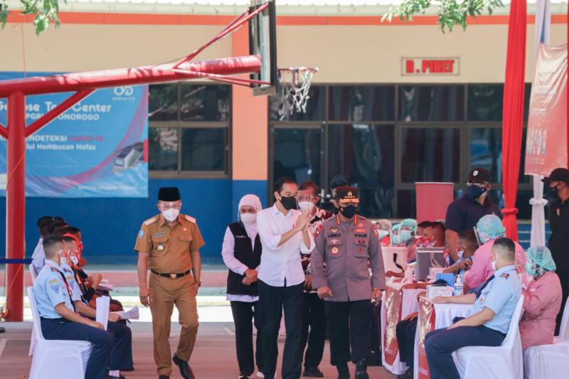 Forkopimda Jatim dampingi Jokowi kunker di Ponorogo dan Blitar