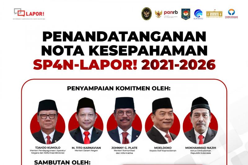 Lima K/L tandatangani Nota Kesepahaman SP4N-LAPOR