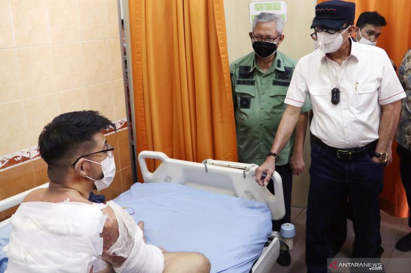 Menkumham jenguk korban selamat kebakaran Lapas Tangerang