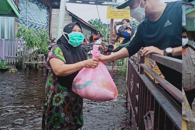 Sungai Rungan-Kahayan meluap, Palangka Raya mulai terendam banjir