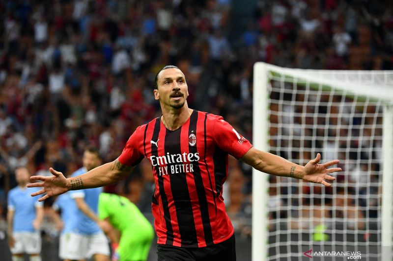 Ibrahimovic merumput lagi, AC Milan tumbangkan Lazio 2-0