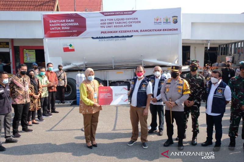 Kadin Riau berikan 20,5 ton liquid oksigen untuk RS di Pekanbaru