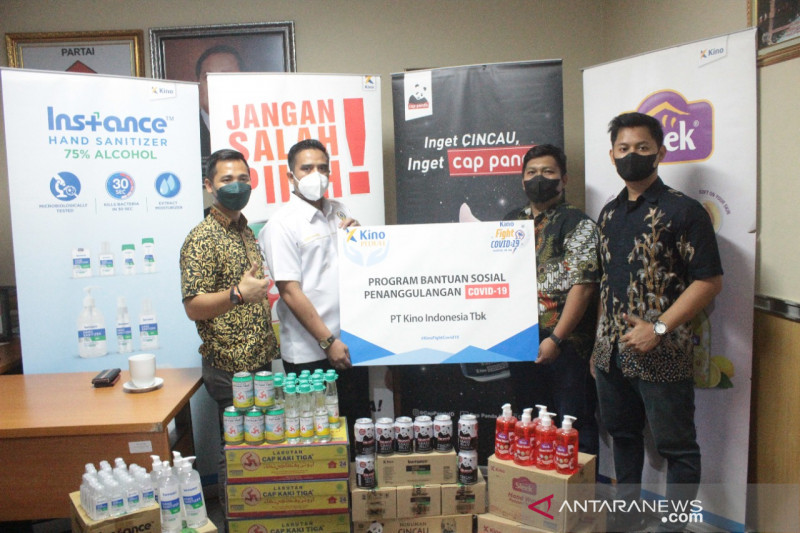 PT Kino gandeng anggota DPRD DKI Thopaz Nuhgraha untuk salurkan bansos