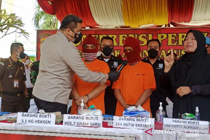 Polrestabes Medan mengungkap peredaran heroin jaringan internasional
