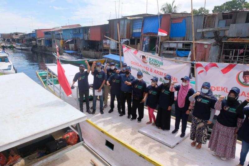 Relawan Kawan Sandi Sulsel mendeklarasikan Sandiaga Uno Capres 2024