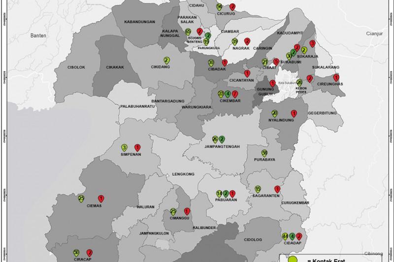 Lima kecamatan di Sukabumi tertinggi kasus kematian pasien COVID-19