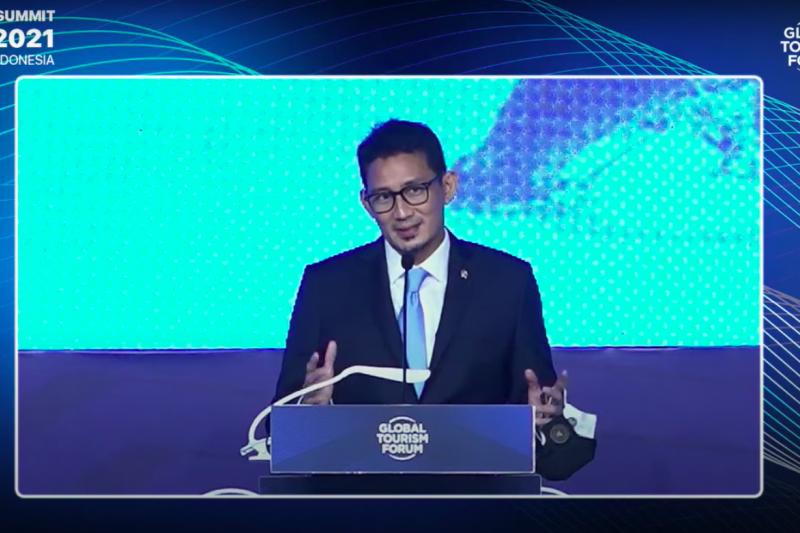 Menparekraf sampaikan 2 pesan penting dalam Global Tourism Forum 2021