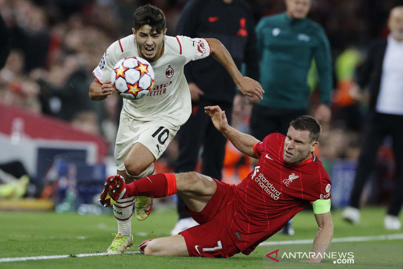 Liga Champions: Liverpool tundukkan AC Milan 3-2
